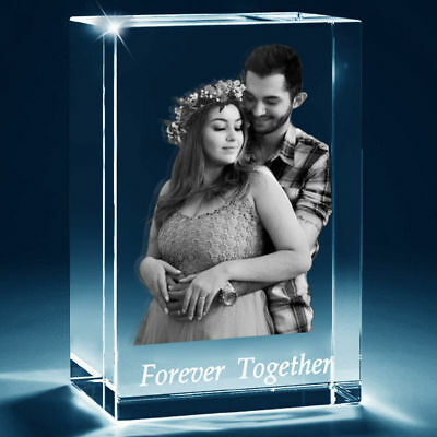 3D Laser Etched Personalised GIFT 3D Photo Crystal -s Gift