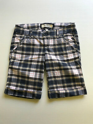 Abercrombie Size 10 Boys Stretch Dress Shorts Check Checked and Fitch New York