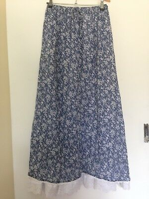 Vintage OZ Made MCGEE Floral Cotton Maxi Skirt - Size M (12)