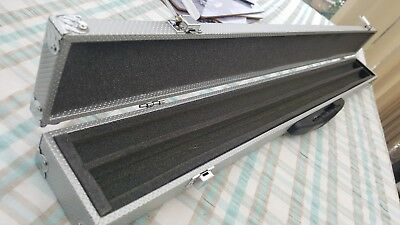 2pc SILVER Cue Case With Reinforced Corners for Snooker Pool Cue
