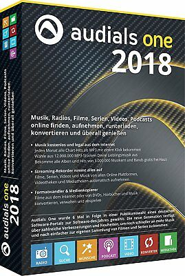 Audials One 2018 DVD Musik Filme Radio  EAN 4023126119308 inkl. Privacy Suite 17
