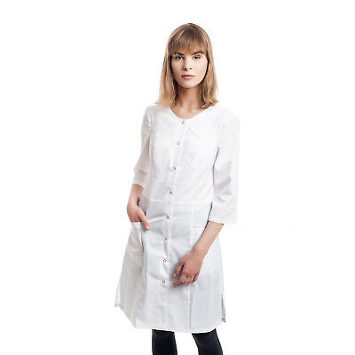 Womens White Medical Lab Coat Nurse Uniform Doctor cheap Jacket S/M/L/XL/2XL