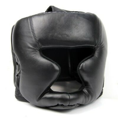 Black Good Headgear Head Guard Training Helmet Kick Boxing Protection Gear K2R7