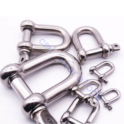 Stainless Steel D Shackle M4 M5 M6 M8  304 FREE SHIPPING