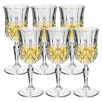 NEW RCR Crystal Opera White Wine Goblet Set 6pce 160ml