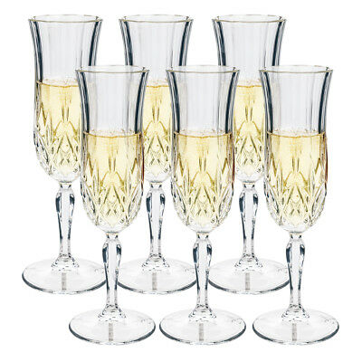 NEW RCR Crystal Opera Champagne Flute Set 6pce 130ml