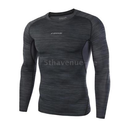 Fitness Sportswear Springy Tights Long Sleeve Top Breathable Quick Drying Q2K4