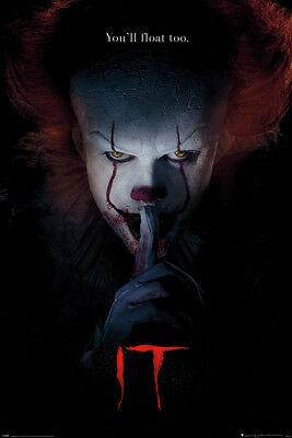 It Pennywise Clown Hush Stephen King 91.5X61Cm Maxi Poster New Official Merch