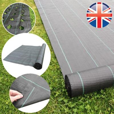 *UK Seller* 2M Wide 100gsm Weed Control Fabric Membrane Garden Mulch Landscape
