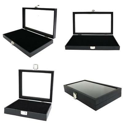 High Quality Lockable Jewelry Ring Display Storage Case Holds 72