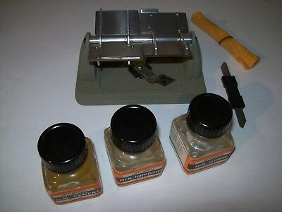 Johnson Cine Film Service Kit With Vintage Eumig Cine Film Splicer 8 & 16Mm