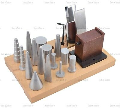 NEW 18 Pieces Multi Purpose Forming Anvil Stake Set Jewellery Forming Creating
