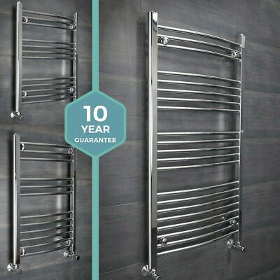 Bathroom Straight Curved Heated Towel Rail Radiator Rad White Chrome - All Sizes