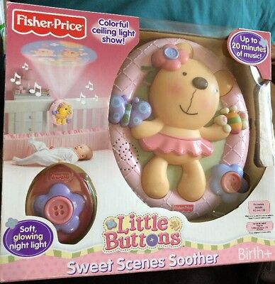 Pre Owned Fisher Price Little Buttons Sweet Scenes Soother Night Light & Music