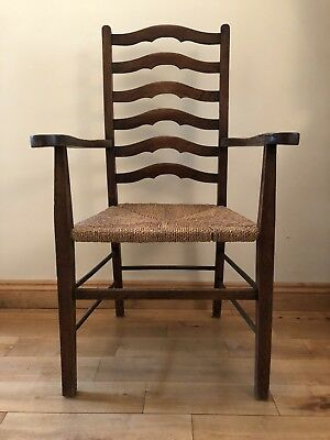 Set of 6 Antique Arts and Crafts Dinning chairs