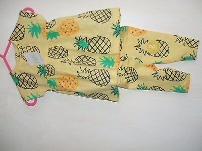 Next Baby beautiful set pinapple design top and leggings first size new taged