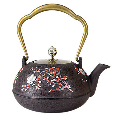 Durable Cast Iron Teapot Japanese Iron Tea Pot Metal Tea Kettle 1.3L #2