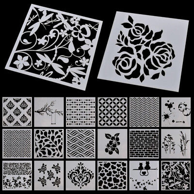 Hollow Design Wall Hand Painting Spray Grain Stencil For Diy Decor Pattern Mold1