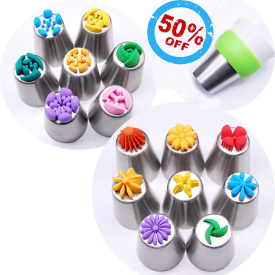 CakeLove Flower-Shaped Frosting Nozzles 13 PCS New Kitchen Tool New