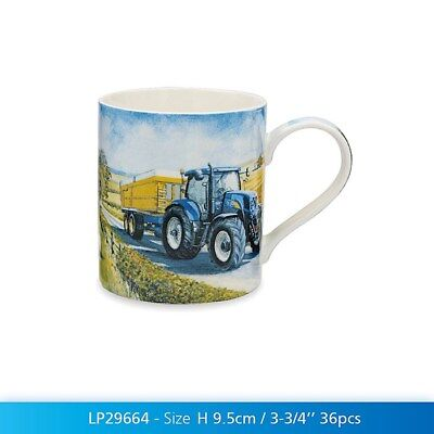 Blue Ford New Holland Tractor Mug Gift Boxed Farming Kitchen China Drinking Cup