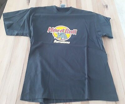 Hard Bull Barcelona T-Shirt L Hard Rock Cafe Comic Biker Rock Rocker Wacken