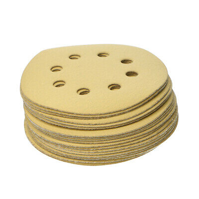 "20Pcs 5"" 600 Grit Hook Loop Sanding Disc Orbital Sandpaper Sheet"