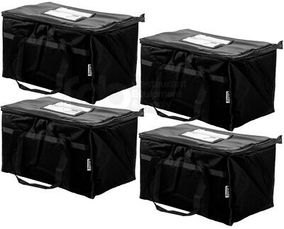 4 PACK Insulated BLACK Catering Delivery Chafing Dish Food Full Pan Carrier Bag
