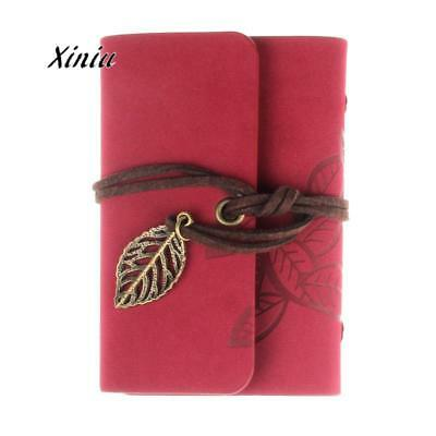 Fashion Leaves Retro Card Holder Practical Leather Business Credit Id Card Holde