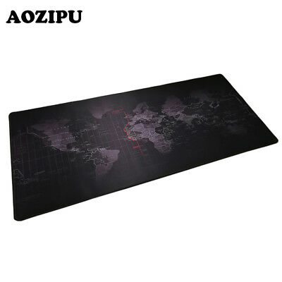 XL World Map Gaming Mouse Pad 30x80cm 40x90cm Locking Keyboard Mice Desk Mat