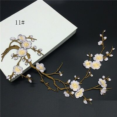 Han Noble Plum Flowers Embroidery Patches Sticker For Clothes Wedding Decor Dres