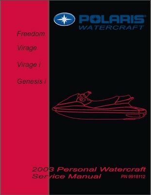 2003 Polaris Freedom, Virage, Virage i, Genesis i PWC Service Manual CD