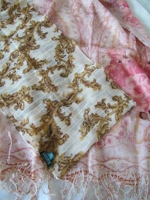 Infinity New Scarf Lot Ralph Lauren Wool Oblong Metallic Roses Paisley Abstract