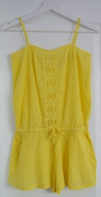 D4 Monsoon size 8 yellow summer Playsuit