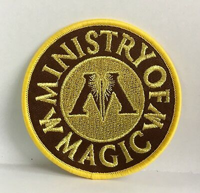 Harry Potter Gold Ministry Of Magic Embroidered Appliqué Patch Sew Or Iron #59