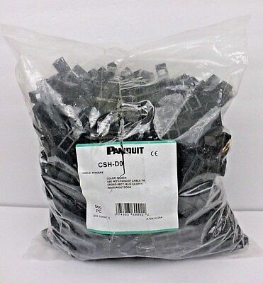 Panduit CSH-D0 Cable Spacers, 53.8mmx15.7mmx8.9mm, Black - Lot of 500 Units NOS*