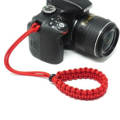 """The """"Cordy Classic"""" Red Paracord Camera Wrist Strap - Handmade by Cordweaver"""