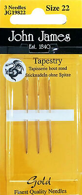 Colonial Tapestry Tweens Needlepoint Needles Pack of 3 ~ Size 21 ~  JJG