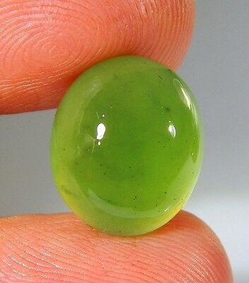 06 Ct Natural Ring Size Deep Green Serpentine  Jade Oval Cabochon  Gemstone A178