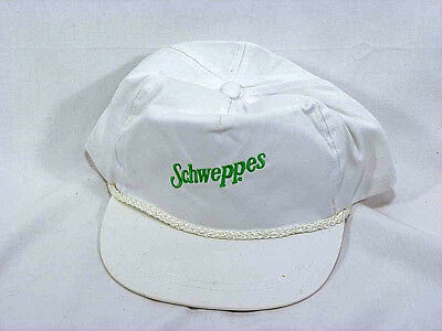 Vintage Schweppes White Cotton Golf or Baseball Style Cap - NOS