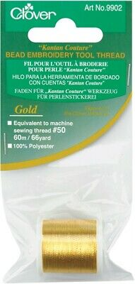 Clover KC9902 Kantan Couture Bead Embroidery Tool Thread 66yd-Gold