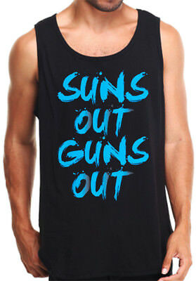 Sun/'s Out Guns Out Tanktop 21 Street 22 Jump Movie Shirt suns TANK TOP BLACK