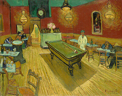 """The Night Cafe by Vincent Van Gogh, Giclee Canvas Print, 8""""x10"""""""