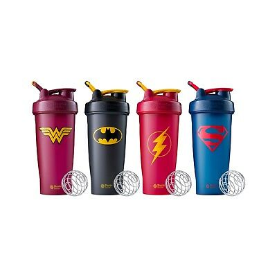 Blender Bottle Shaker Mixer Loop Top DC Comics Superhero 28 oz - Single OR Combo