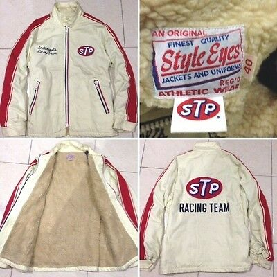 Vintage Style Eyes STP Indianapolis Racing Team by Toyo mcqueen jacket size 40