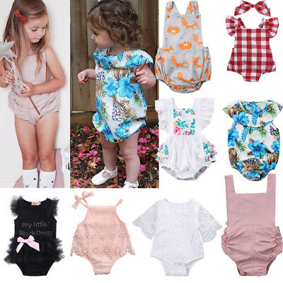 Newborn Infant Baby Girl Romper Bodysuit Jumpsuit Outfits Summer Clothes Custome