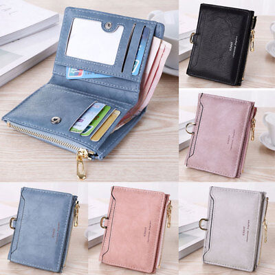 AU Fashion Women Short Small Money Purse Wallet Leather Folding Coin Card Holder