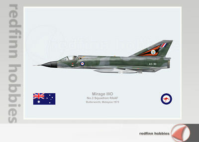 Warhead Illustrated Mirage IIIO 3Sqn RAAF A3-86 Aircraft Print