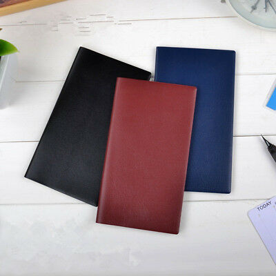 A6 Monthly Plan Diary Notebook Schedule Journal PU Leather Planner Organiser