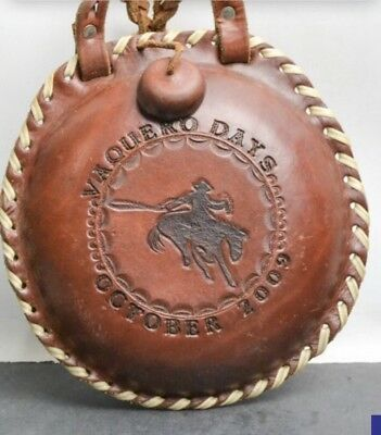 McClintock Leather Water Canteen Collectible Vaquero Days 2009 Braided Handle