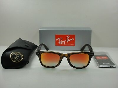 caf5b0c3651 Ray-Ban Wayfarer Ease Sunglasses Rb4340 710 4W Tortoise orange Gradient 50Mm